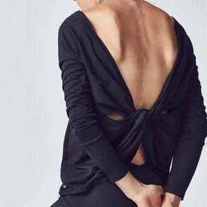 Fabletics Aviana Open Twist Back Long Sleeve Top